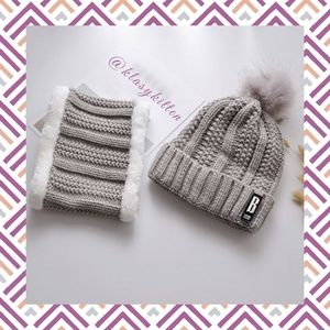 Accessories - Winter hat & neck warmer set - Cream
